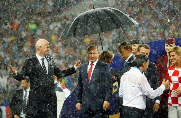 France vs Croatia FIFA World Cup 2018 Final: France kiss World Cup in Moscow rain