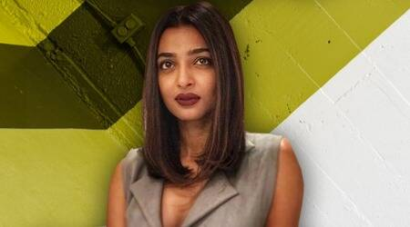 Radhika Apte ups the glam quotient with her grey pantsuit and short hair