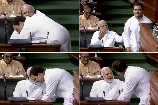 Rahul Gandhi Modi embrace in Parliament ushered spontaneity into stuffy corridors of power