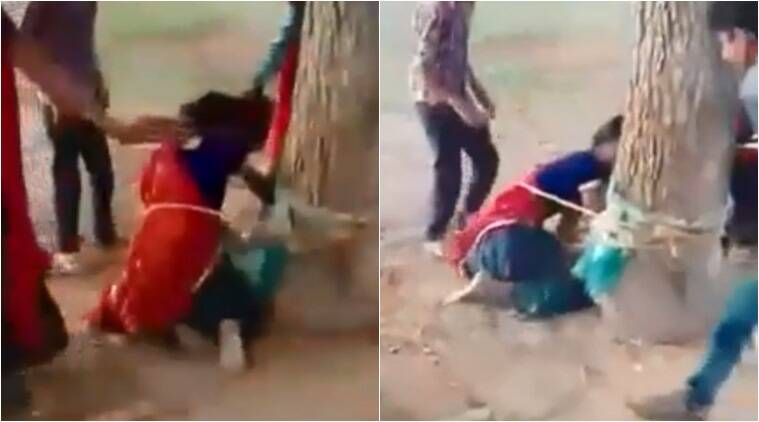 Rajasthan: Three held for assaulting woman after tying her to a tree, video goes viral