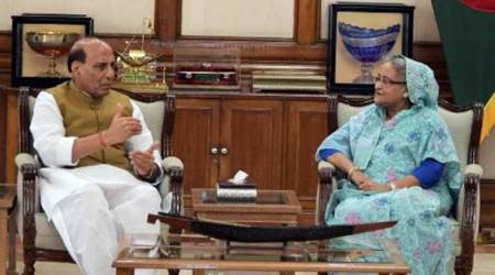 Rajnath Singh meets Sheikh Hasina, discusses terror, border agreement issues