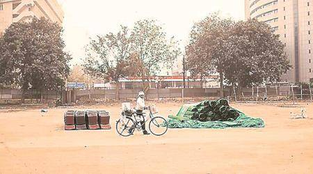 Protests free since April 25 but Ramlila Maidan found just 4 takers