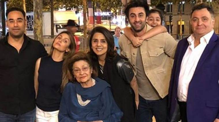 ranbir kapoor family photo