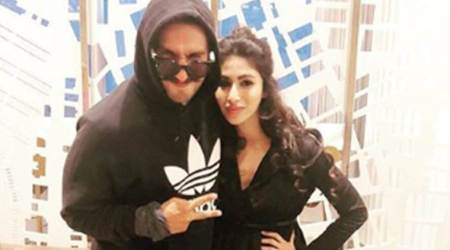 Mouni Roy's moment with the 'dapper and fun' Ranveer Singh cannot be missed