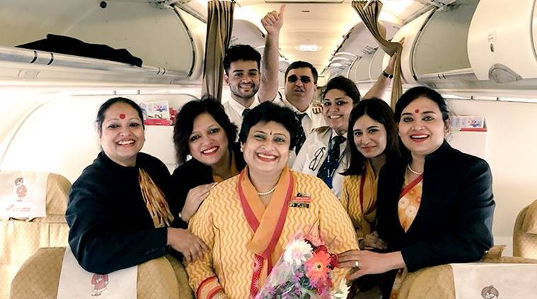 air india pilot story, daughter flies mother retirement flight, final flight, air india pilot tweet, air india pilot story, indian express, indian express news