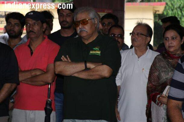 satish shah at rita bhaduri funeral