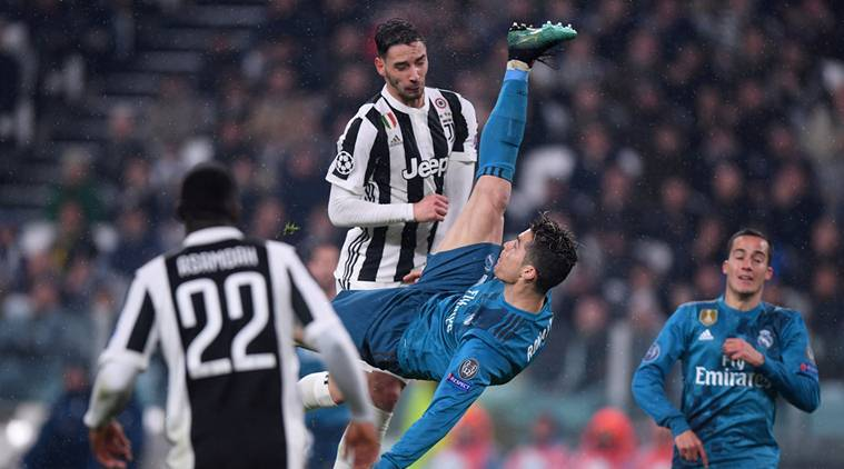 Cristiano Ronaldo S Bicycle Kick Against Juventus Nominated For Uefa