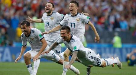 Russian football team went to the quarterfinals of the 2018 World Cup 01.07.2018 74