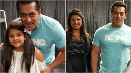 Salman Khan meets Rambha during Dabangg Tour 2018, gives major Judwaa throwback
