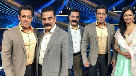 Kamal Haasan is happy to meet Dus Ka Dum host Salman Khan