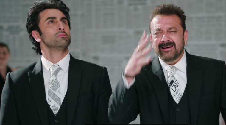 sanjay dutt and ranbir kapoor in sanju