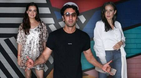 Sanju success party: Ranbir Kapoor, Dia Mirza, Karishma Tanna arrive in style