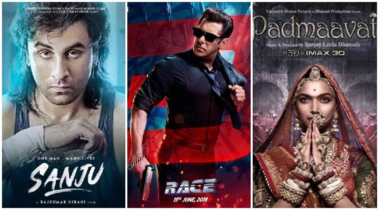 Sanju, Race 3, Padmaavat Bollywood films in Rs 100-cr club 2018