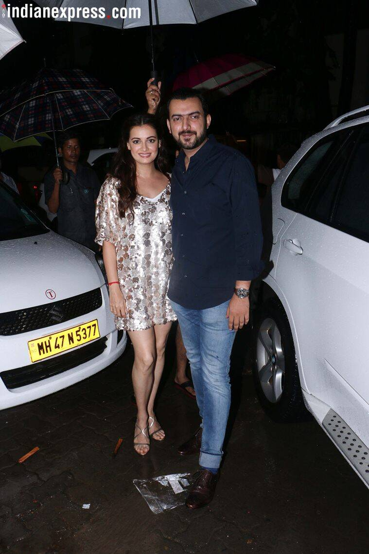 dia mirza photos from sanju success party