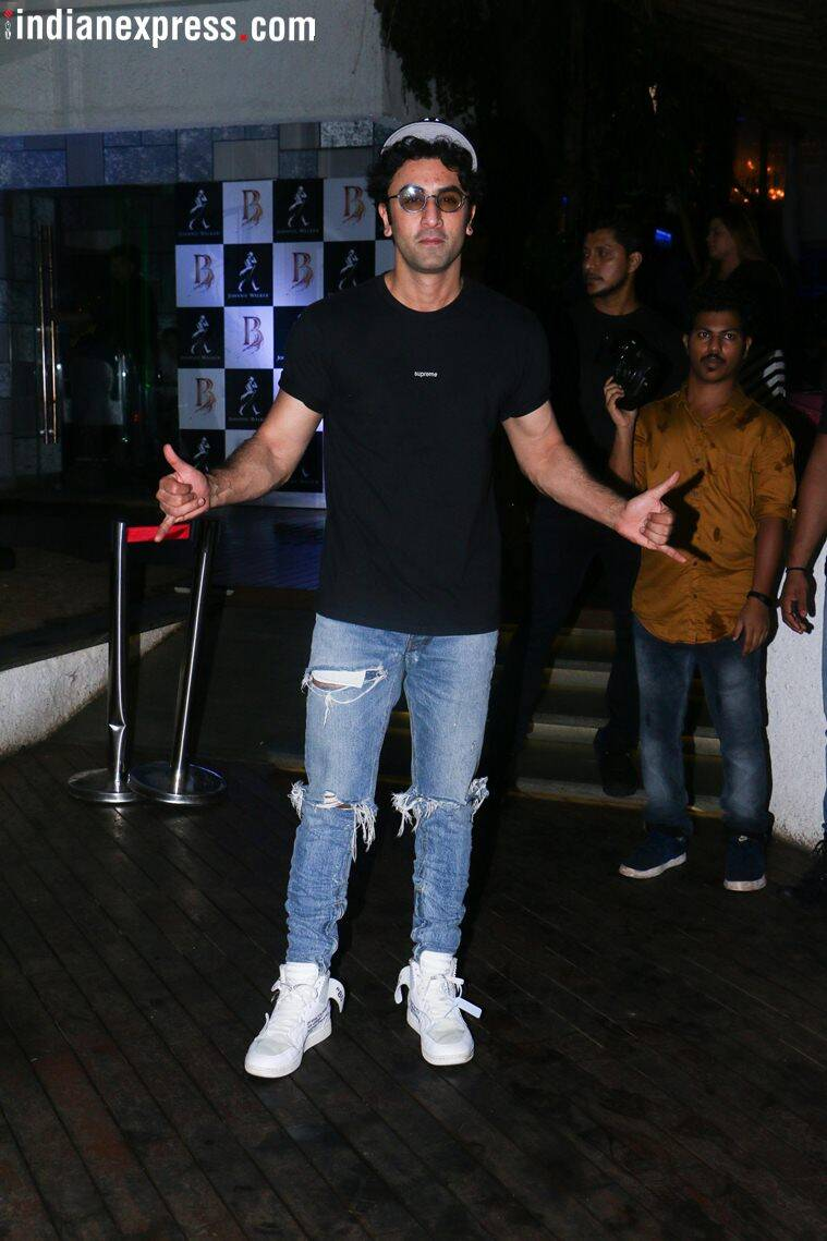 ranbir kapoor at sanju success party