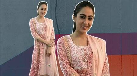 Pastel pink is soothing, but Sara Ali Khan in this salwar suit fails to impress