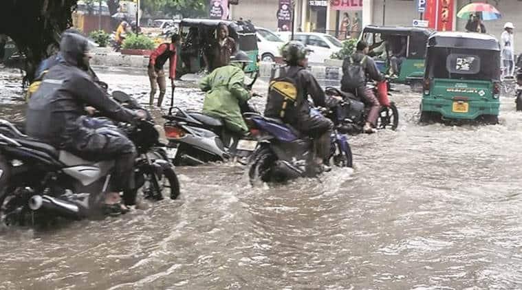 gujarat rains, saurashtra flooded, coastal saurashtra flooded, gujarat farmers, north saurashtra, gujarat crops, gujarat cotton, indian express