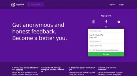 Another Sarahah? Sayat.me allows you to get anonymous 'feedback' fromfriends