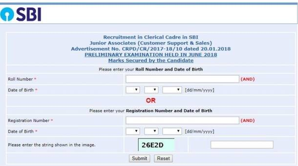 sbi.co.in, sbi clerk result, SBI result, result of SBI clerk 2018, SBI Clerk 2018 result, SBI Junior Associate result, SBI Clerl prelims result 2018, SBI clerk pre result 2018