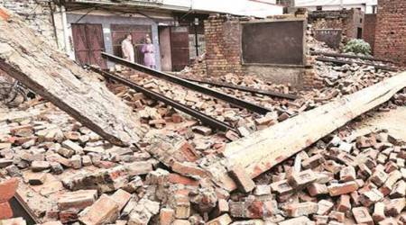 Rain reduces roofless Ludhiana school to rubble, students have narrow escape