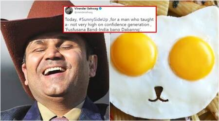 Sehwag's punny birthday wish to Sunil Gavaskar gets the dice rolling on Twitter