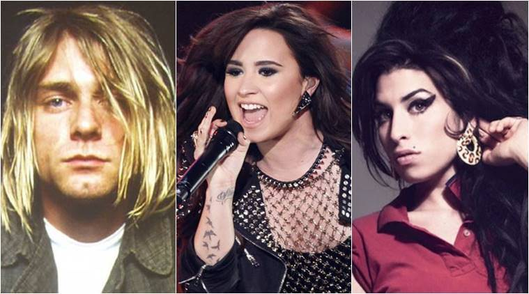 lovato, lovato hosital, lovato drugs, music and drugs, songs about drugs, music and drugs, emnimen, kurt cobain and drugs, indian express, indian express news