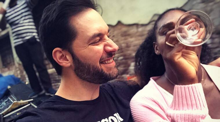 Alexis Ohanian and Serena Williams during the trip to Venice