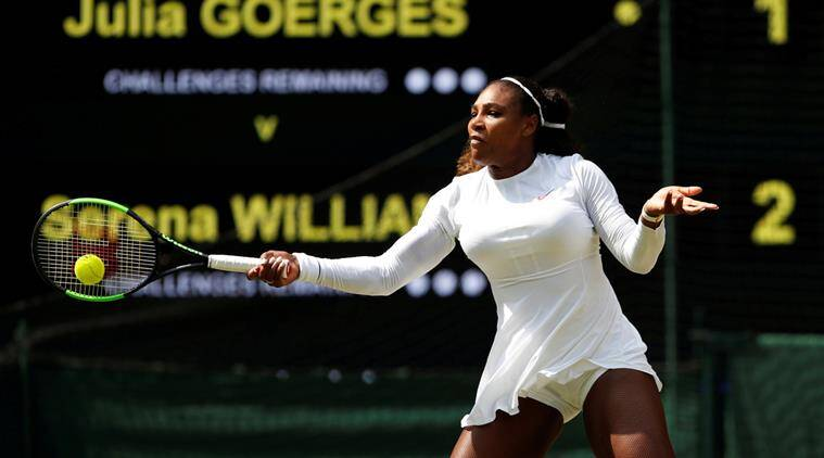 Serena Williams, Serena Williams Wimbledon 2018, Wimbledon 2018, sports news, tennis, Indian Express