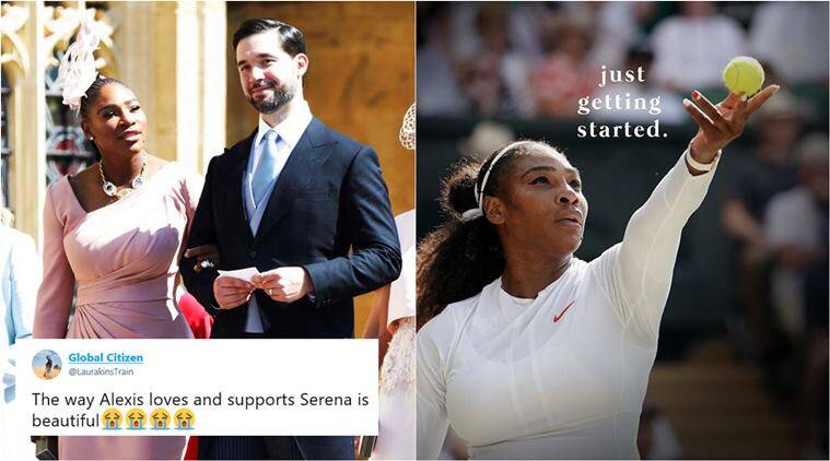 serena williams, wimbledon women finals 2018, serena williams wimbledon, serena williams husband, Alexis Ohanian serena message, Alexis Ohanian tribute to wife, sports news, tennis news, indian express, viral news