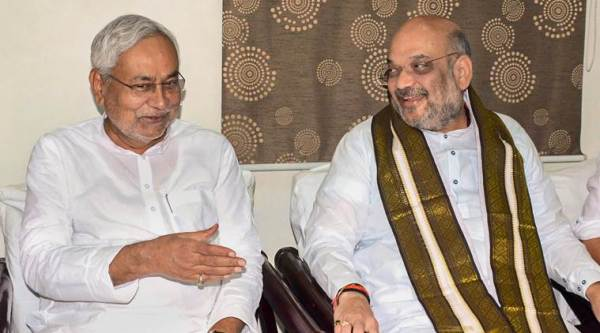 Amit Shah, Nitish Kumar meet, likely to discuss seat-sharing for 2019 Lok Sabha elections
