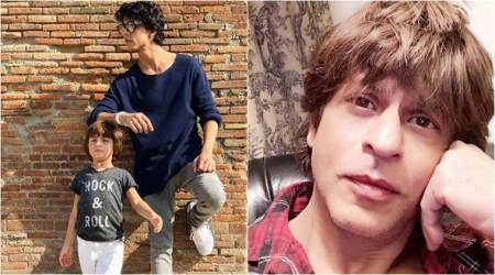 aryan, abram holiday in europe with shah rukh khan