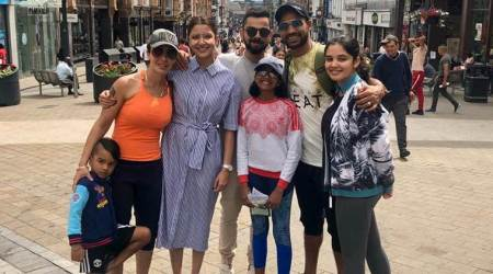 Shikhar Dhawan, Virat Kohli spend time with families in England