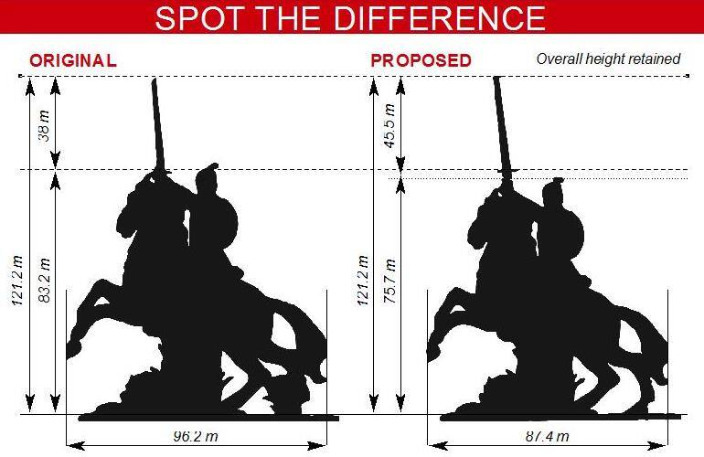 For Shivaji memorial, Maharashtra makes sculpture shorter, sword taller