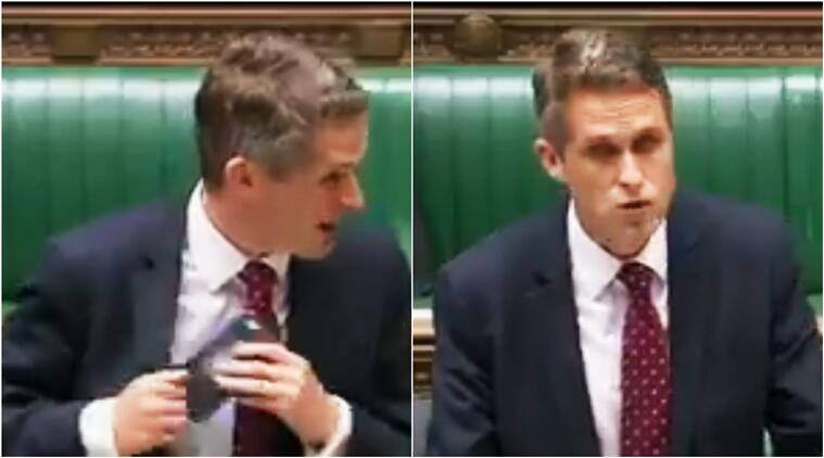 Siri interrupts, Siri funny, siri uk parliament interrupts, siri UK defense secretary funny video, Siri British Parliament funny video, Siri funny video, Siri UK funny video, Siri UK funny interruption video viral, funny viral videos, funny viral, Indian Express, Indian express news