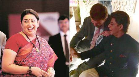 Smriti Irani's hilarious post on SRK leaves Netizens LOL-ing