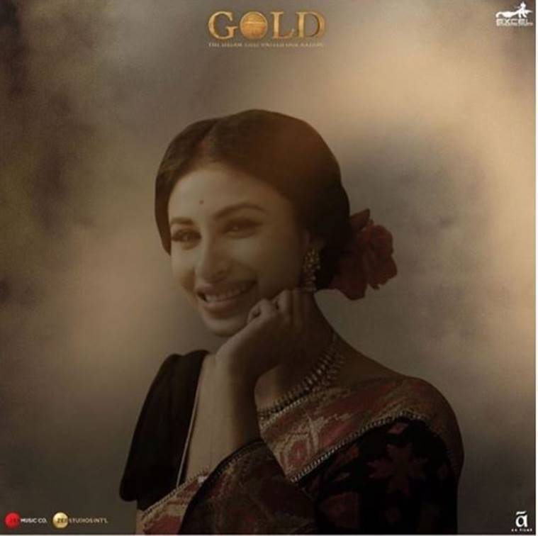 Mouni roy in Gold