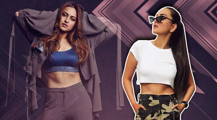 Sonakshi Sinha, Sonakshi Sinha abs, how to get toned midriff, midriff exercises, Sonakshi Sinha fitness, Sonakshi Sinha toned abs, how to get toned abs, toned ab exercises, how to get abs, ab exercises, celeb fitness, indian express, Indian express news