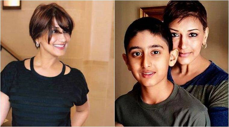 Image result for sonali bendre with son