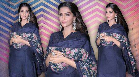 Sonam Kapoor's latest look in this navy blue suit is a complete letdown