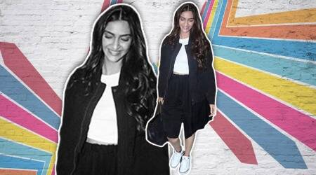 Sonam Kapoor's monochrome airport look is ultra-chic and fuss-free