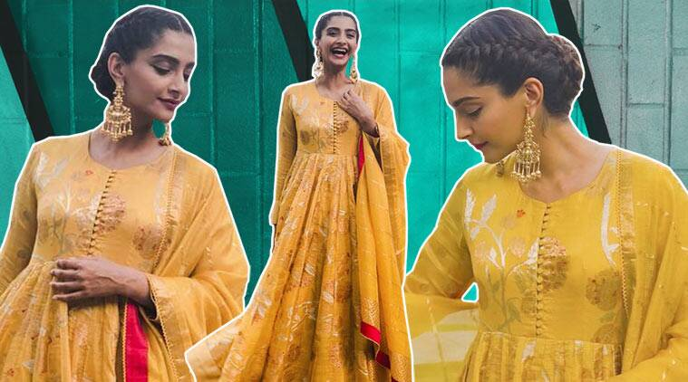 sonam kapoor, sonam kapoor ethnic look, sonam kapoor gaurang shah, sonam kapoor anarkali, sonam kapoor instagram, sonam kapoor latest pics, indian express, indian express news