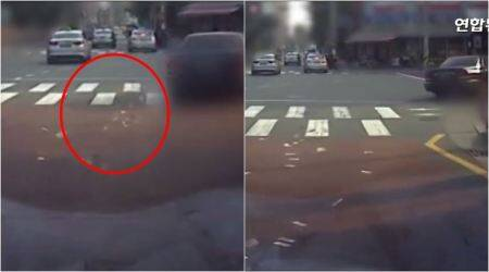 South Korean woman throws away cash worth millions on road; video goes viral