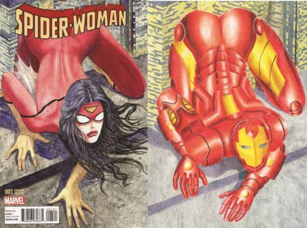 spiderwoman, spiderman, Marvel comics