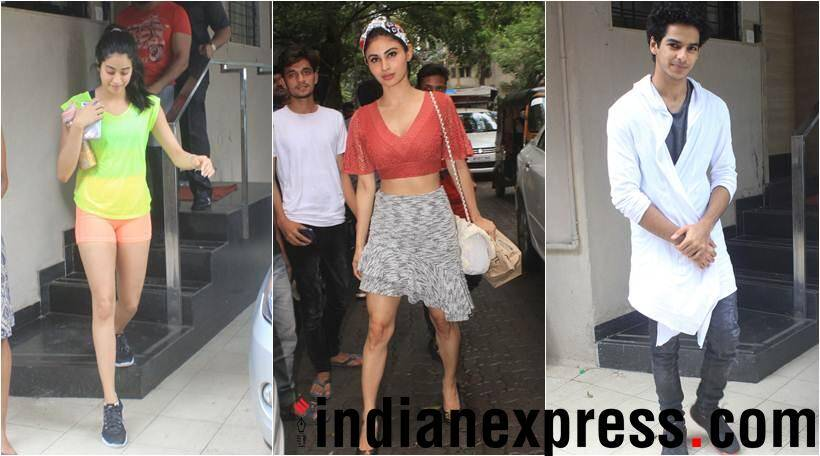 Mouni Roy Ishan Khatter and Janhvi Kapoor spotted in the city