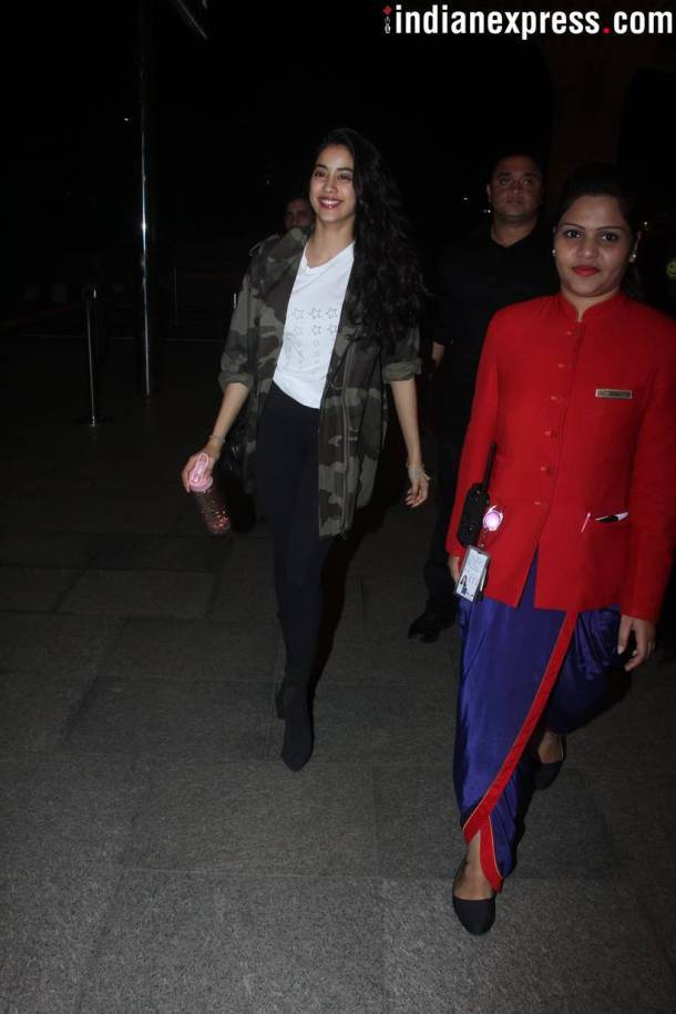 Dhadak star Janhvi Kapoor was also spotted at the airport.