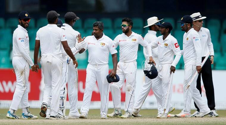 South Africa's Keshav Maharaj takes 9-129 against Sri Lanka