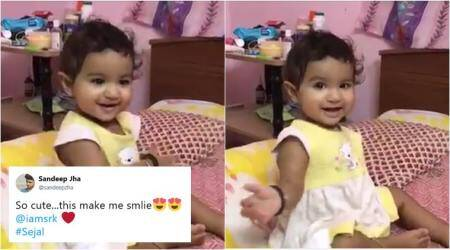 VIDEO: This toddler doing Shah Rukh Khan's signature move is the cutest thing you'll see today