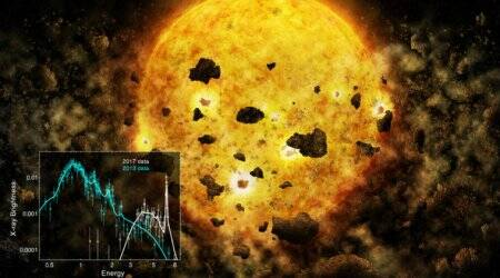 NASA sees first sign of one young star devouring planets