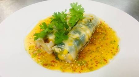Satisfy evening hunger pangs with delicious 'Steamed Corn and Greens Popiah'recipe