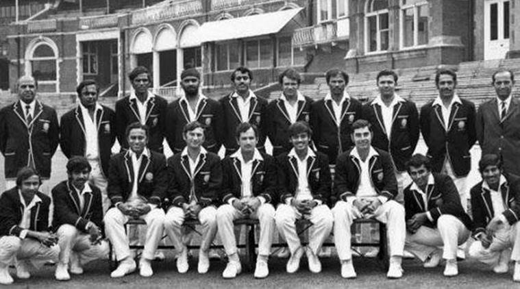 India's winning team against England in the 1971 Test at The Oval.